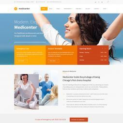 Template Clinica Médica, Dentista Hospital WordPress 570 v3