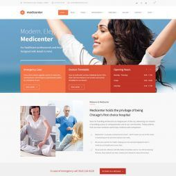 Template Clinica Médica, Dentista Hospital WordPress 570 v4