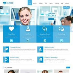 Template Clinica Médico Dentista WordPress Responsivo 573