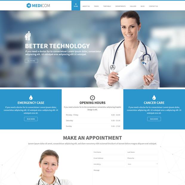 Template Clinica Médico Dentista WordPress Responsivo 669 S v2