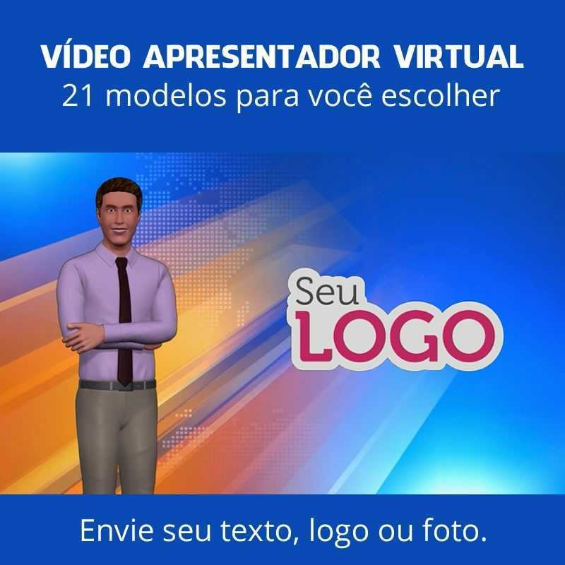 vídeo apresentador virtual 3d