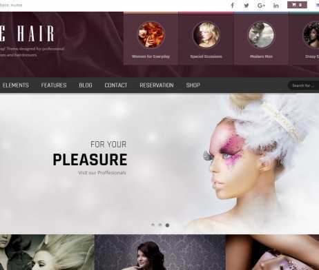 Template Cabeleireiros Wordpress Responsivo 710