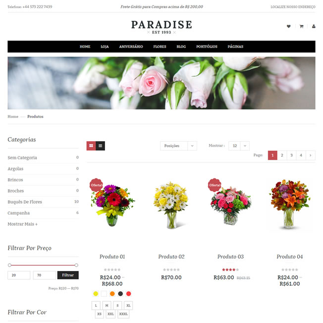 Criar Loja Virtual Floricultura WordPress