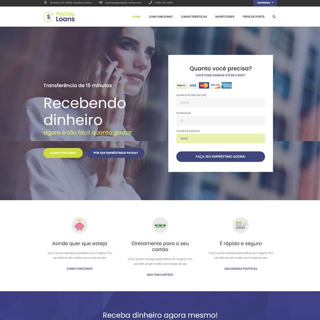Criar Site Banco Online WordPress Responsivo Português 1087 S