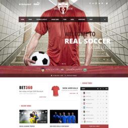 Criar Site Futebol WordPress Responsivo Português 1092