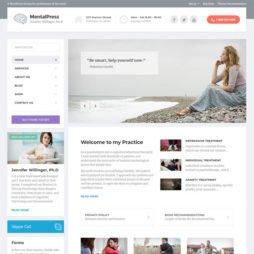 Template Clinica Psicólogo Psicologia WordPress Responsivo 711