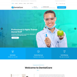Template Dentista WordPress Responsivo 707