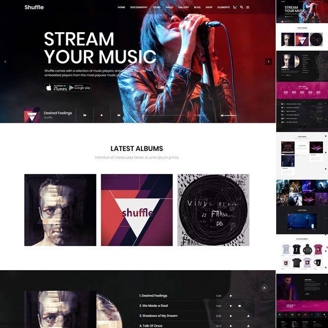 Template Música Banda Artista Wordpress Responsivo 601 S v1