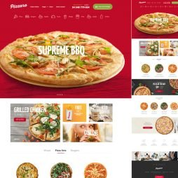 Template Pizzaria WordPress Responsivo 706 v3
