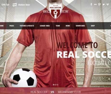 Template Esporte Clube Futebol Wordpress Responsivo 558 S