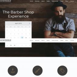 Template Barbearia Wordpress Responsivo 662 S
