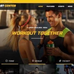 Template Academia Personal Trainer Wordpress Responsivo 742
