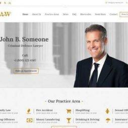 Template Advogado Advocacia Wordpress Responsivo 746