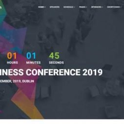 Template Eventos Conferências Feiras Wordpress Responsivo 758