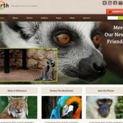 Template Animais Wordpress Responsivo 761
