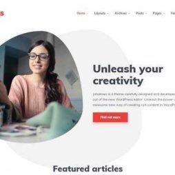 Template Blog Wordpress Responsivo 778