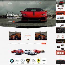 Template Agência De Automóveis Carros WordPress Responsivo 772 V1