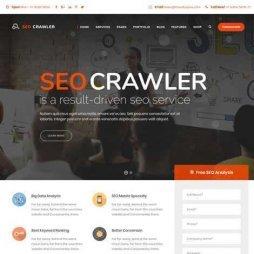 Template Agência De Marketing WordPress Responsivo 654