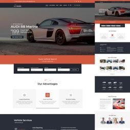 Template Classificados Carros Wordpress Responsivo 795 S