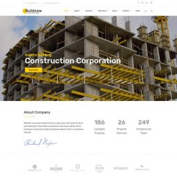 Template Construtora WordPress Responsivo 809 v1