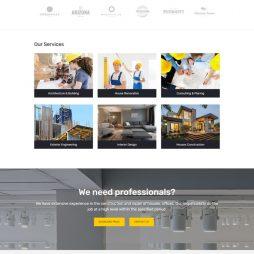 Template Construtora Wordpress Responsivo 809
