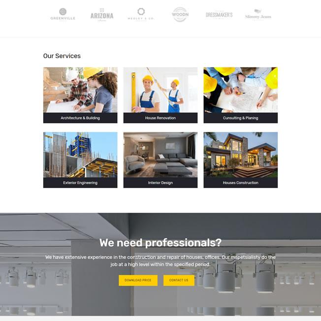 Criar Site Construtora Wordpress Responsivo 809 S