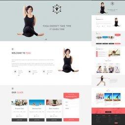 criar site yoga 802 tema template wordpress