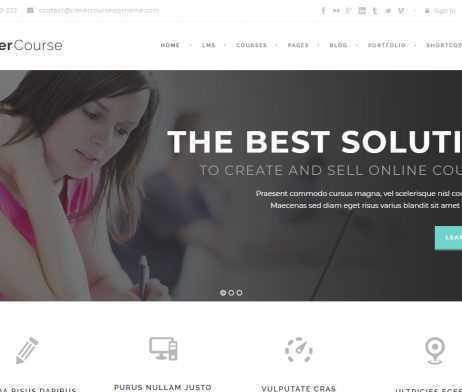 Template Curso Online WordPress Responsivo 827