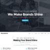 Template Uma Página Agências Designers Drupal Responsivo 872 S