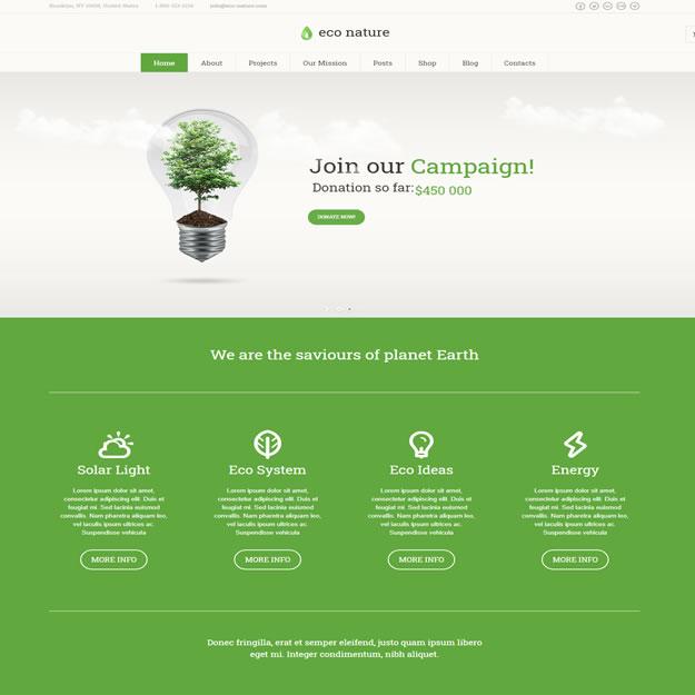Criar Site Ecologia Natureza