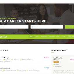 Template Vagas de Emprego WordPress Responsivo 885
