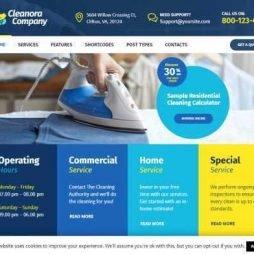 Template Empresa Limpeza e Serviços WordPress Responsivo 905