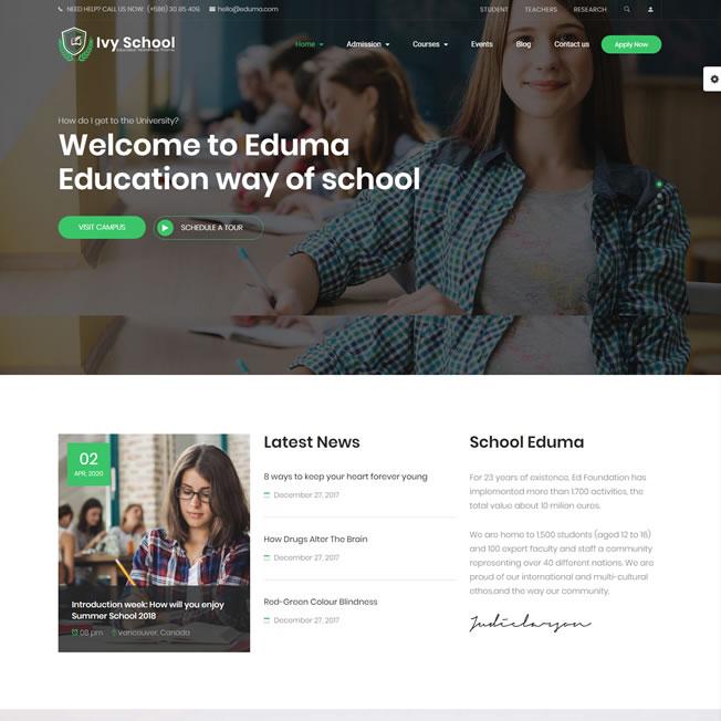 Criar Site Escola Faculdade Curso WordPress Responsivo 832
