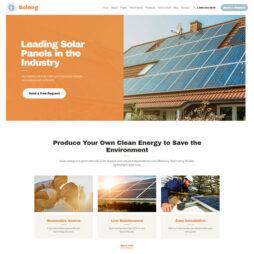 Template Empresa Energia Solar WordPress Responsivo 898 S
