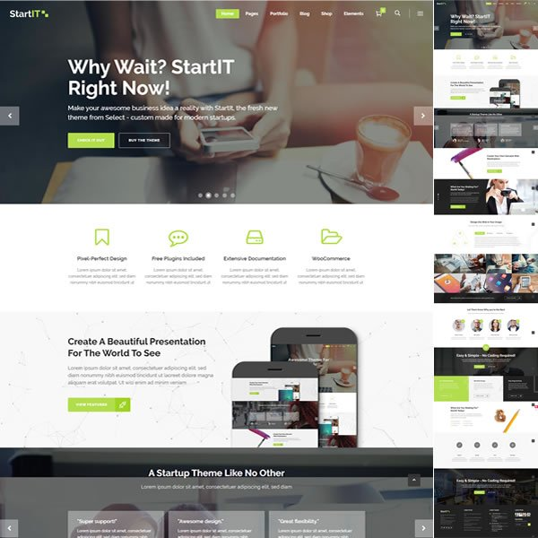 Template Empresa de Tecnologia Informática WordPress Responsivo 607 S