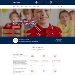 Template Escola Infantil Creche WordPress Responsivo 830