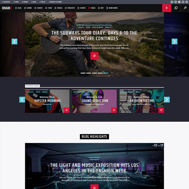 Criar Site Rádio Online