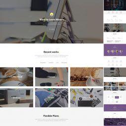 Template Uma Página Designer Drupal Responsivo 869 S v4