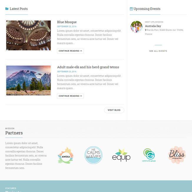 Template para Ongs WordPress Responsivo 863 v2
