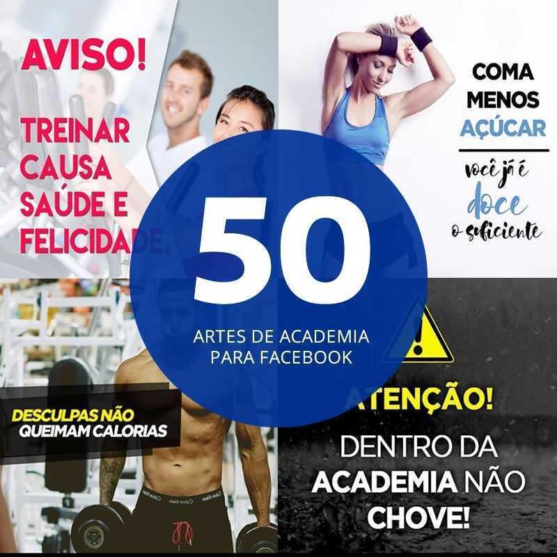 Banco com 50 Imagens Academia para Redes Sociais Facebook