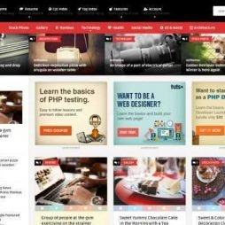 Template para Site Tipo Pinterest WordPress Responsivo 932