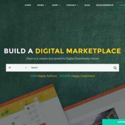 Loja Virtual Marketplace Produtos Digitais WordPress Responsivo 936