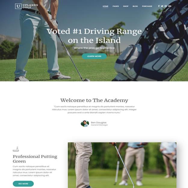 Criar Site Golf