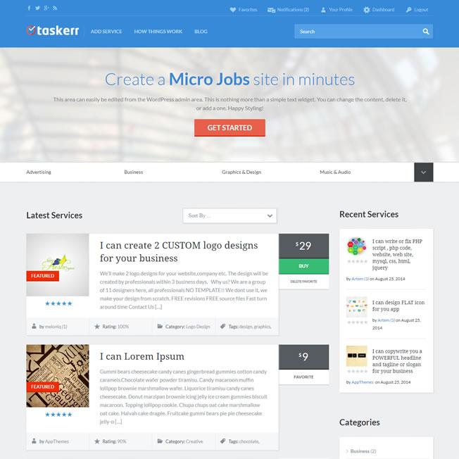 Loja Virtual Marketplace Freelancer Serviços WordPress Responsivo 942