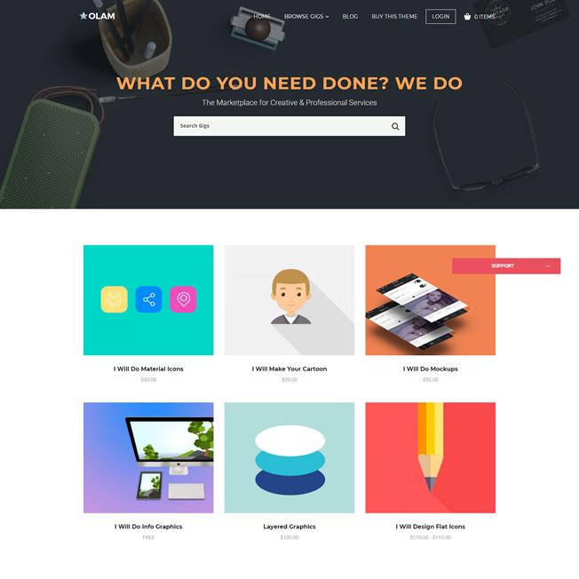 Loja Virtual Marketplace Produtos Digitais WordPress Responsivo 938