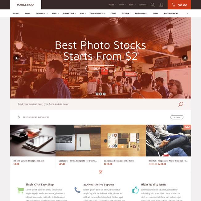 Loja Virtual Marketplace Produtos Digitais WordPress Responsivo 943