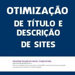 OTIMIZAÇÃO DE TITULO TITLE E DESCRIÇÃO DESCRIPTION DE SITES E LOJAS VIRTUAIS