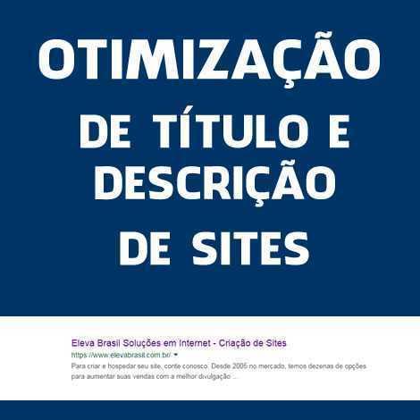 Otimização de Título e Descrição de Site – SEO