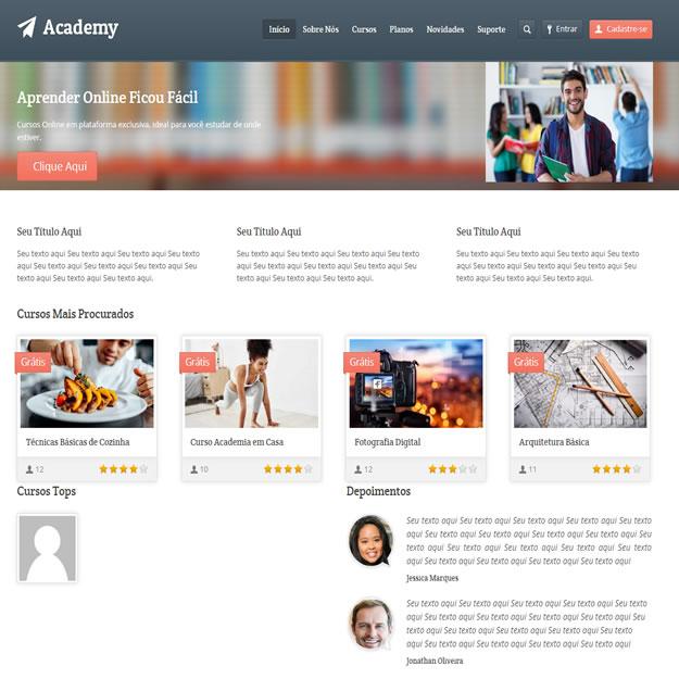 Criar Site Escola Cursos