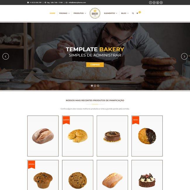 Criar Site Padaria Confeitaria WordPress Responsivo Português 992